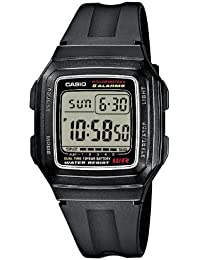 Casio Collection – Reloj Hombre Digital con Correa de Resina – F-201WA-1AEF