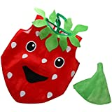 MagiDeal Traje de Disfraces de Fresa de Niños Vestido de Frutas para Fiesta de Halloween Cosplay Show