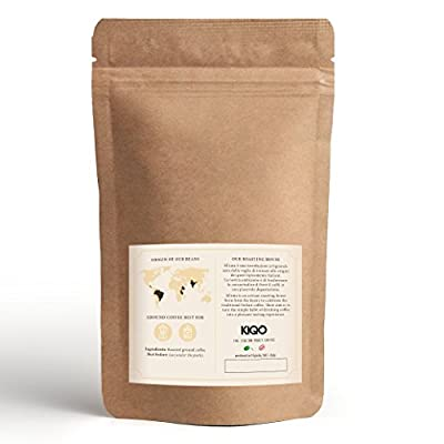 KIQO Cremoso Espresso from Italy   Gently Roasted in Small batches   Low in Acid and digestible   15% Arabica & 85% Robusta Beans