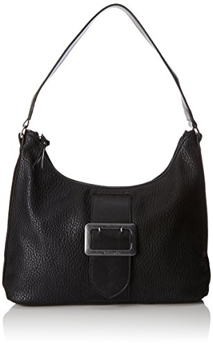 Tamaris Damen Lee Hobo Bag Schultertasche, Schwarz (Black Comb) 12x28x32 cm