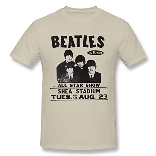 Fomente Beatles The Live at Shea Stadium Herren Klassisch T Shirt Natural S (Beatles Themen Kostüm)
