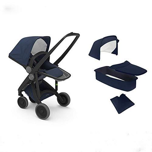 GZ Kinderwagen Hochlandschafts Leichte Falten Kinderwagen Sitzen Liege Importierten Kinderwagen,Dunkelblau,1