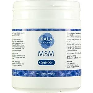 """Kala Health – OptiMSM® Mehrstufige Destillation (Methylsulfonylmethan) grobes Pulver (""""Coarse Flakes"""") 500g, Nahrungsergänzungsmittel organischer Schwefel für Gelenke, Haut, Haare & Nägel – Laborgetestet – KEINE ZUSATZSTOFFE – 100% Vegan – Hergestellt in den USA – 1 Zutat"""