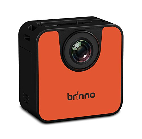 Brinno TLC120 - Portable Weather Resistant Time Lapse Camera with WiFi and BLE - Black/Orange