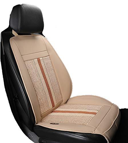 Kontinuierliche Belüftung (HSGZIS Sitzauflage Für Autositz, 8 Große Ventilatoren + Taillenmassage, Schnelle Kühlung, Angenehme Kontinuierliche Kühlung, Anschluss Für 12V/24V Zigarettenanzünder,Beige-12V-Singleseat)