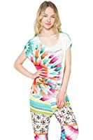 Desigual Women's Top Multicoloured Multicoloured