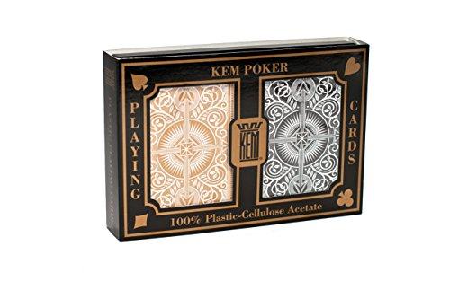 us-playing-card-co-kem-carte-da-poker-arrow-black-e-gold-wide-indice-standard-importato-da-uk