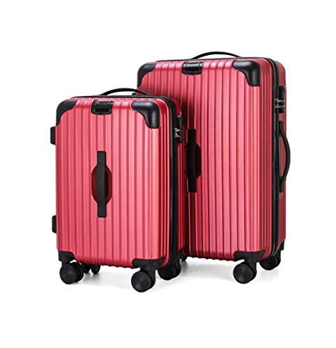 Tronco Set valigie bagaglio Set valigie rigide Set 3 pezzi con rotella di filatura e blocco password Bagaglio a rotelle leggero 20 pollici 24 pollici Adatto for viaggi d'affari Academy, B