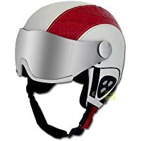 Slokker dinho de esquí y snowboard casco con visera Rosa 56–58