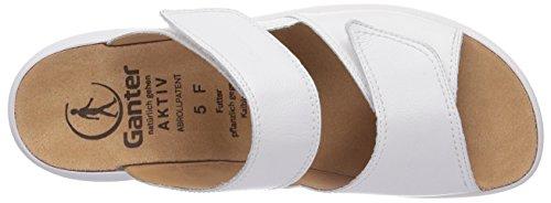 Ganter AKTIV FABIA Weite F Damen Pantoletten Weiß (weiss 0200)
