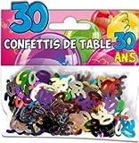Zahlen Tischkonfetti zum 30. Geburtstag, bunt sortiert, Geburtstagszahlen, Karten basteln