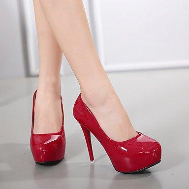 Lvyuan-ggx Femmes Talons Avec Strap Pu (polyuréthane) Printemps Casual Avec Bracelet Blanc Noir Rouge Rose 7.5 - 9.5 Cm Noir