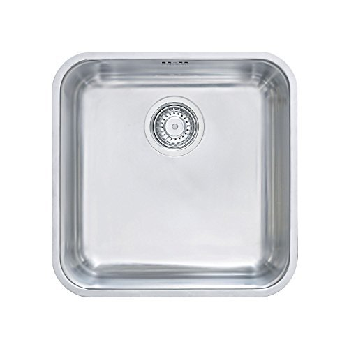 Franke BMX 110Under-Counter Sink 40x 40cm 18/10with Strainer, 1220014398 by (40 Counter)