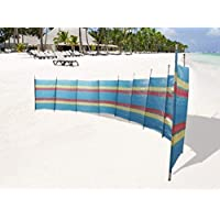 Abaseen Extra Tall Colourful 20ft x 5ft (10 Pole) Wind Break for Camping, Caravan, Festival and Beach Windbreaker (10 Pole(5ft x 20ft))