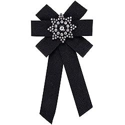 Nowbetter Broche Elegante con Lazo, Negro, 20.4 * 10.5cm