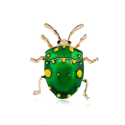 3dd29de84 Homeofying Unisex Fashion Jewelry Gift Cute Ladybird Badge Clothes Decor Enamel  Brooch Pin Green#