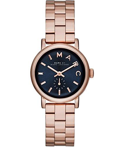 Marc Jacobs - Reloj de cuarzo para mujer, correa de acero inoxidable color oro rosa