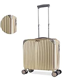 LIYUHAO Trolley Case-Silent Universal Wheel-Anti-Theft-ABS Material Suitcase-Wearable Waterproof and Shockproof Suitcase,Rosegold,20in