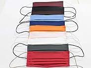 10 Mascherine artigianali in doppio strato di puro cotone colori assortiti con tasca per inserimento ulteriore