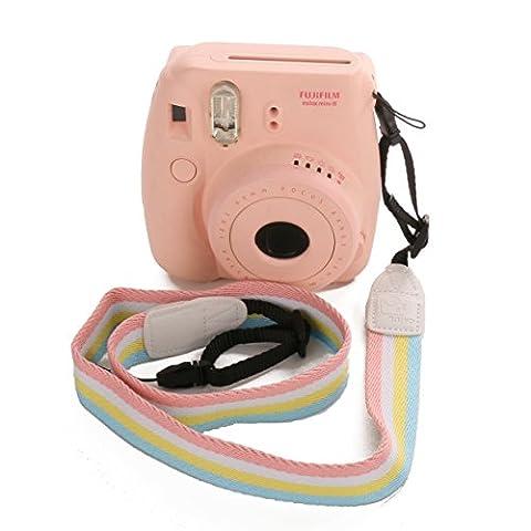 [Fujifilm Universal Camera Strap] — WOODMIN Adjustable Shoulder Belt for Fujifilm Instax Mini Camera, Polaroid Camera, Digital Camera, Nikon Camera, Cannon Camera, Samsung Camera(Rainbow)