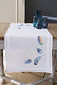 Table runner kit Blue feathers