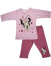 7b5363a9dc Mädchen Baby-Set 2-teilig von Minnie Mouse in GRÖSSE 56, 62, 68, 74, 80,  86, weiß oder rosa, T-Shirt LANGARM mit…