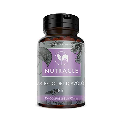 NUTRACLE 100 Teufelskralle Tabletten 500 mg Für das Wohlbefinden und die Gesundheit von Athleten und älteren Menschen - Homöopathische Medizin Rückenschmerzen
