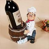 L&WB Cuire Vin Porte-Bouteilles Nouveauté Vin Étagère Standing Vin Résine Bouteille Vin Rack pour Cadeaux Artisanat Décoration À La Maison,B