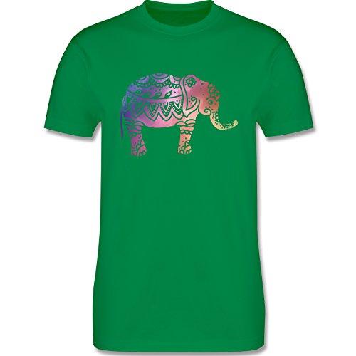 Wellness, Yoga & Co. - Elefant Namaste - Herren Premium T-Shirt Grün