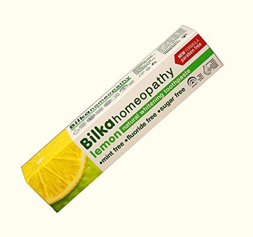 Homöopathie Zahncreme, Homöopathische Zahnpasta mit Xylitol, Zitronen Geschmack, Fluorid frei, Menthol frei, Zucker frei, 75ml - Zitrone Zahnpasta