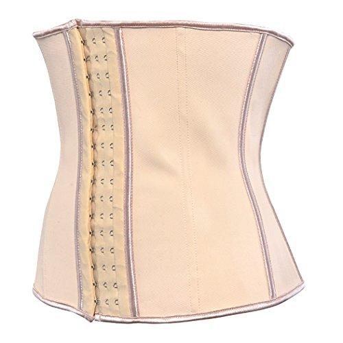 Women's Underbust Latex Sport Girdle Waist Training Corset Hourglass Body Shaper lvory