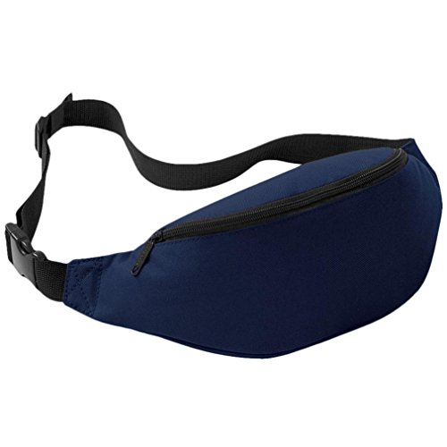 Coolster Sport Outdoor Running Taille Tasche Radfahren Taille Gürtel Tasche (Tiefblau)