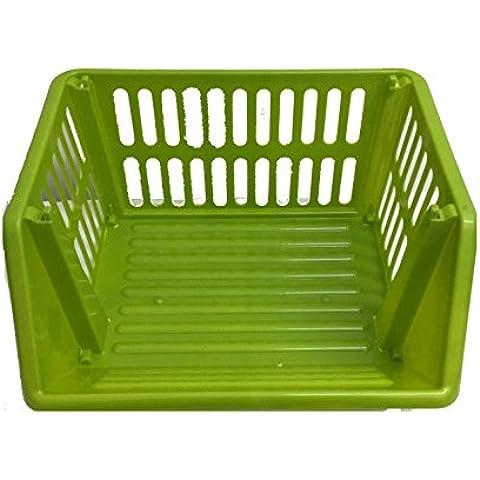 Grande a 3 livelli impilabili per la verdura da Stackers, in plastica, 35 cm