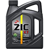 ZIC X7 DIESEL 10W-40 API CI-4/SL VHVI TECHNOLOGY FULLY SYNTHETIC DIESEL ENGINE OIL. (Approvals: MB-Approval 228.3 MAN 3275-1 MTU TYPE 2 VDS-3 CES 20076/77 MACK EO-N DD93K215 Exceeds the requirements of CAT ECF-1A) (6 LITER CAN)