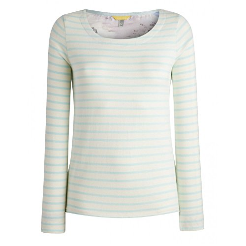 Joules Pia Ladies Jersey Top (S) Opal Blue Stripe