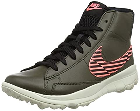 Nike Blazer, Chaussures de Golf Femme, Vert (Cargo Khaki/Black/Lava Glow/Light Bone), 38.5 EU
