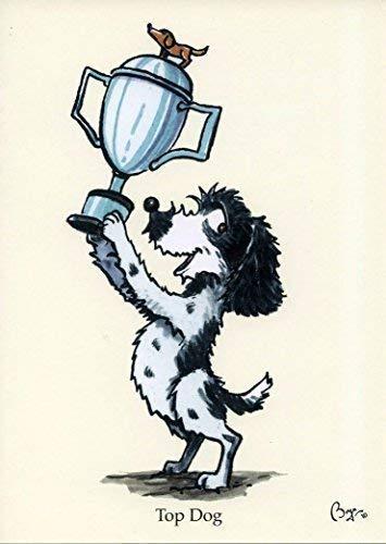 Carta da parati un cane cartone animato a una festa di compleanno