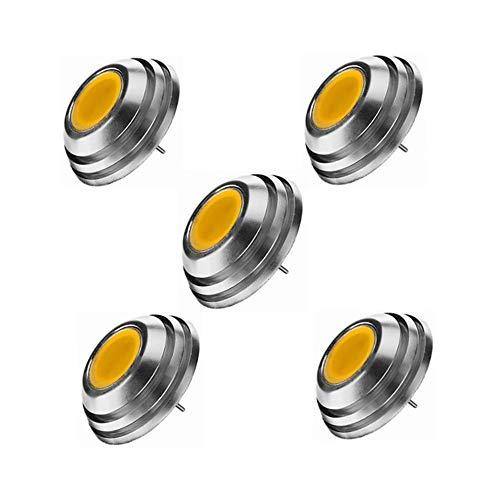GHC LED Bi-pin Lights, LED-Bi-Pin-Sockelbirnen, UFO-Form LED-Birne, G42W COB, 20W-Halogenbirnenäquivalent, DC 12V, 5-pact (Farbe : Kaltes Weiß) Corn-cob-form