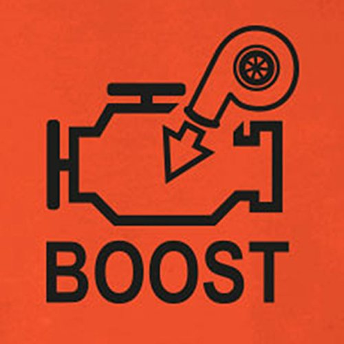 Turbo Boost - Stofftasche / Beutel Rot
