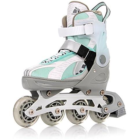 METEOR® MINT 2 in 1 Inline Skates / Schlittschuhe | Kinder | Damen | Herren | Größenverstellbar 33-36 / 37-40 / 40-43 | ABEC