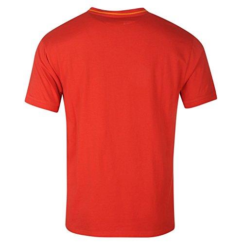 Slazenger Herren V-Ausschnitt T Shirt Kurzarm Tee Top Bekleidung Rot