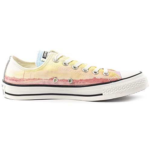 Converse All Star Ox Femme Baskets Mode Multicolore citronier