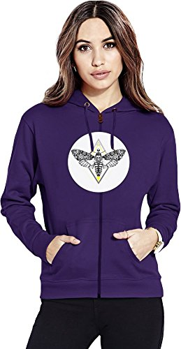 Butterfly in The Flowers Texture Womens Zipper Hoodie X-Large -