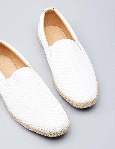 FIND Herren Slipper mit Velours-Kunstleder Weiß (White)
