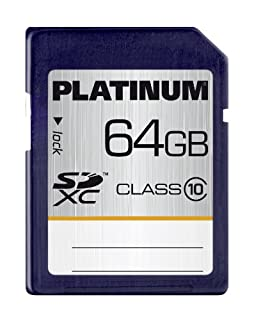 Platinum 177119 Carte mémoire SDXC Class 10 64 Go (B0063QGWZM) | Amazon price tracker / tracking, Amazon price history charts, Amazon price watches, Amazon price drop alerts