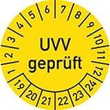Prüfplaketten UVV geprüft 2019 - 2024 Ø 3 cm 100 Stück