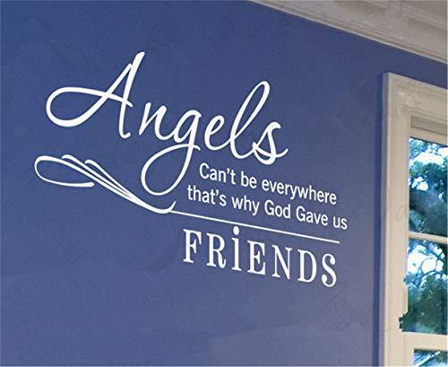 wandaufkleber 3d schlafzimmer Engel können nicht überall sein, deshalb gab Gott uns Freunde
