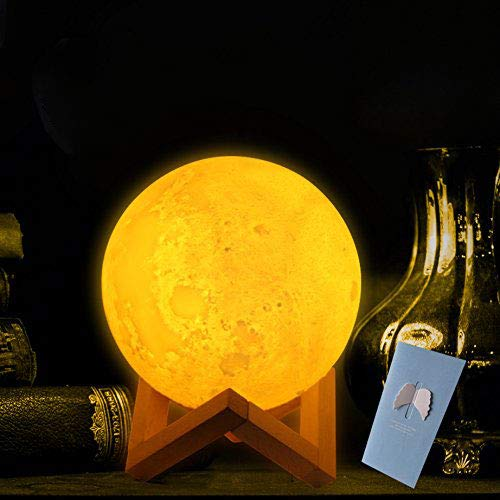 3D Mond-lampe für kinder,15cm nachtlampe mit Touch Control Helligkeit[Kinderzimmer-mondlicht]