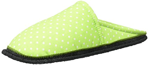 Kitz - Pichler Riva, chaussons d'intérieur mixte adulte Grün (grün Punkte)