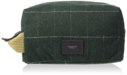 Hackett Tweed Washbag, Portefeuilles homme, Green, 14x12x23 cm (W x H L)